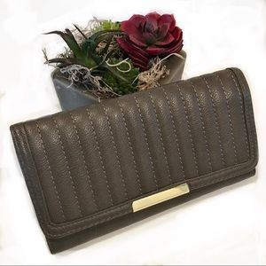 2 for $10! Taupe and Gold Wallet